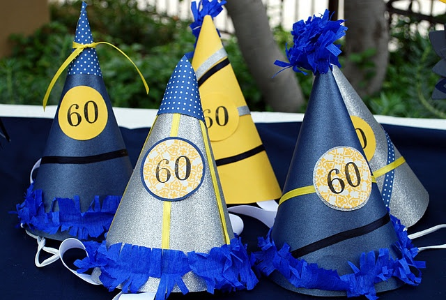 Party Hats for 60th Birthday Party
