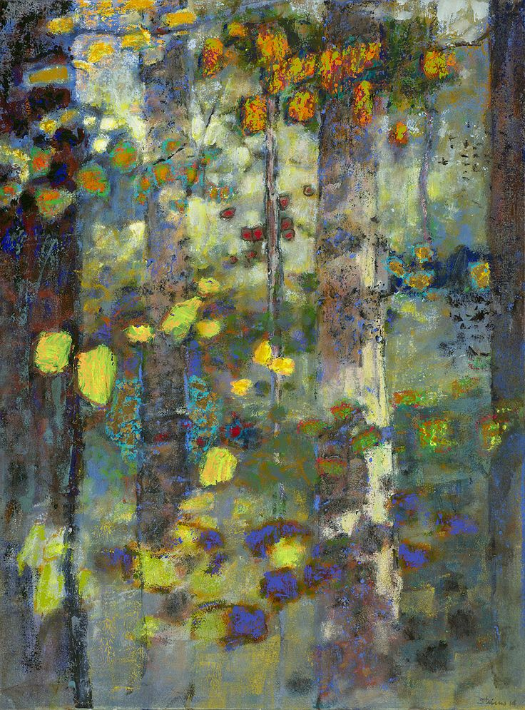 "When All Was Wild III | oil on canvas | 36 x 27""--Rick Stevens - Contemporary Lyrical Compositions"