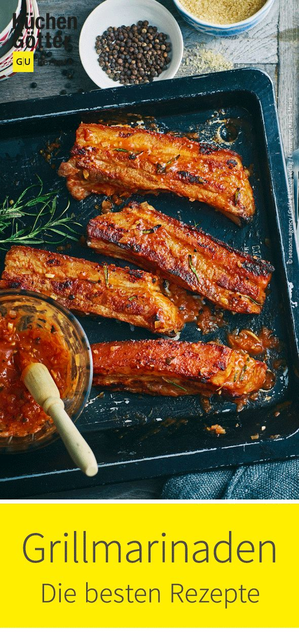 Fleisch, Fisch & Gemüse kommen beim #Grillen erst zur richtigen Geltung, wenn sie gut gewürzt oder mariniert sind. Hier findest du die beliebtesten #Saucen, #Dips und #Marinaden.