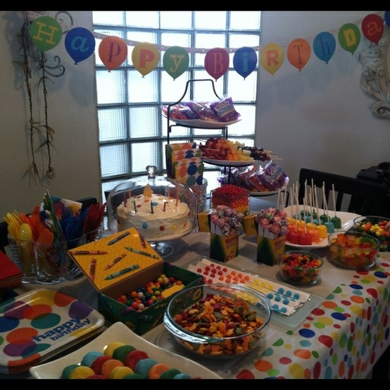 Crayola Party Snack Table Party Ideas For Kids