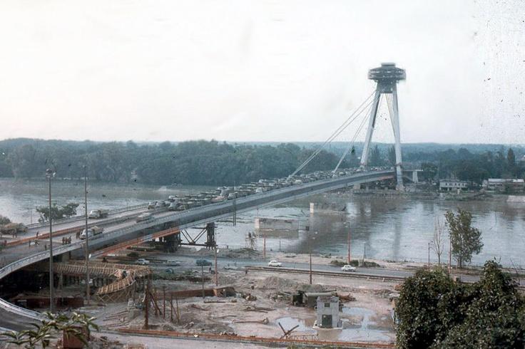 Zaťažkávacia skúška Mostu SNP - 1972.