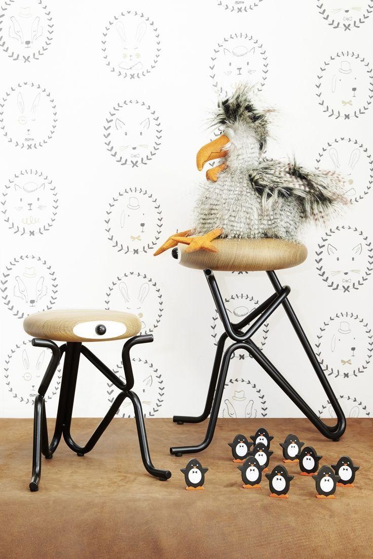 Oak children's footstool COMPANION JR. by Phillip Grass Furniture design…