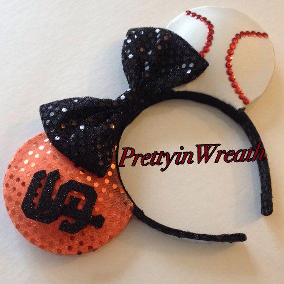 San Francisco Giants inspired Mickey Mouse ears by PrettyinWreath