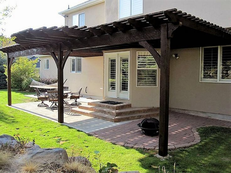 909 best images about pergola gazebo design ideas on for Attached gazebo
