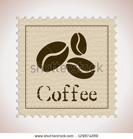 coffee stamp. coffee concept