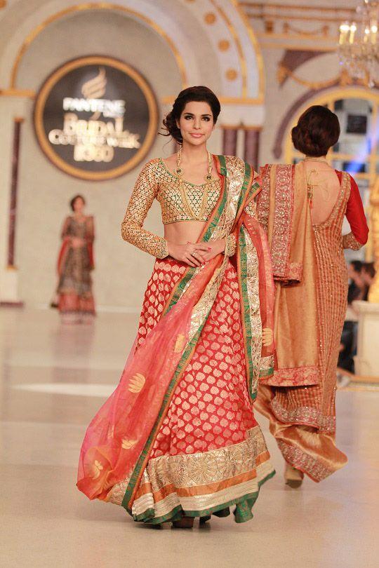 Lengha by Nida Azwer at Pantene Bridal Couture Week 2013