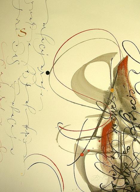 Calligraphic art/Oriental brush painting / Betina Naab