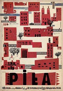Piła, plakat z serii Polska Ryszard Kaja
