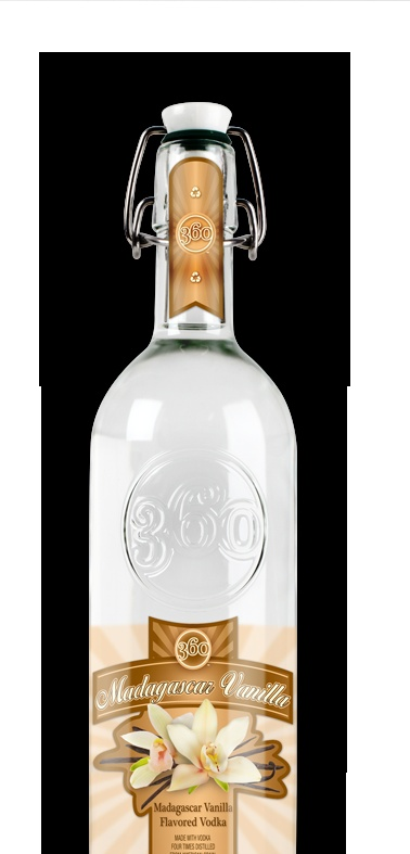 360 Vodka -- Madagascar Vanilla in a reusable bottle.  LOVE!