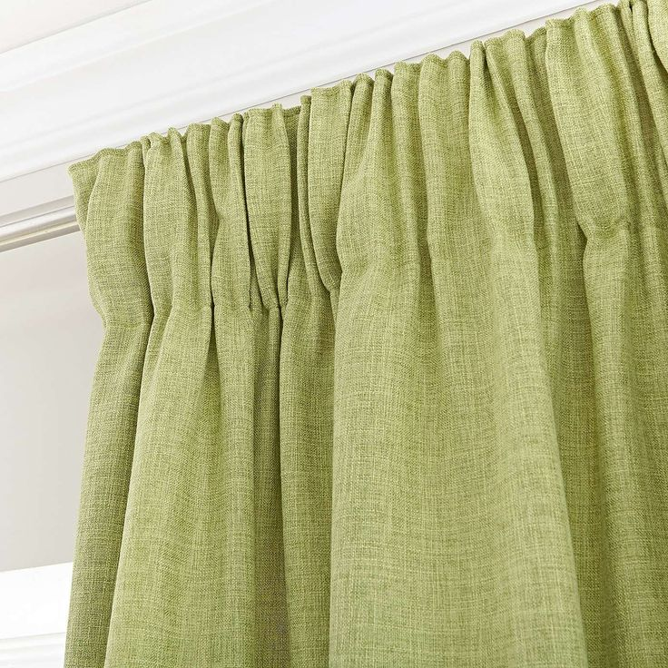 Vermont Green Lined Pencil Pleat Curtains | Dunelm £60