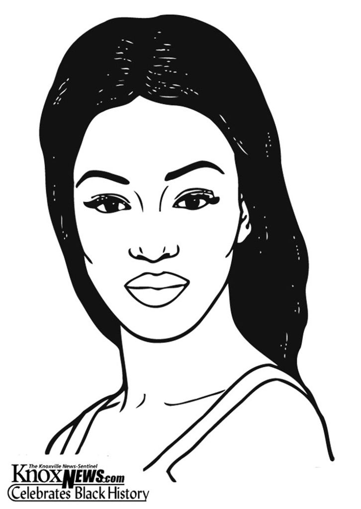 From KnoxNews Black History Pages To Color Naomi Campbell