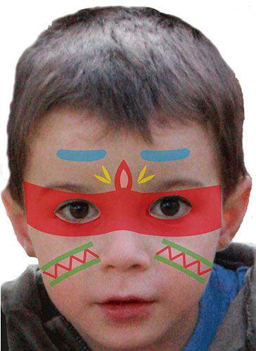 Kinder schminken: Indianer