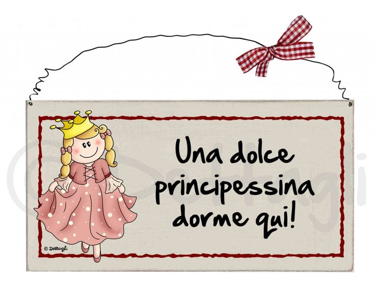 targhetta principessa