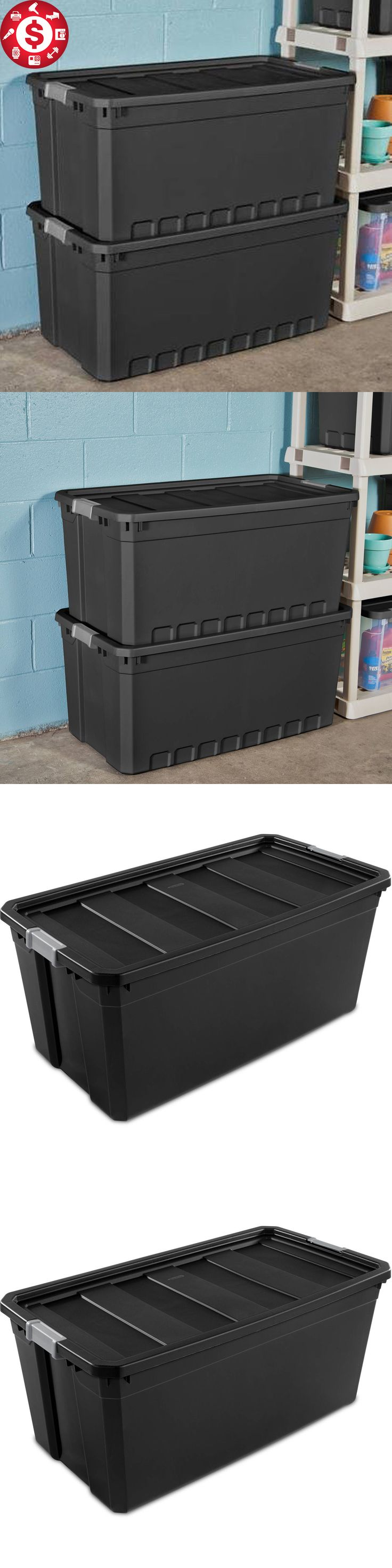 Storage Boxes 159897: 3 Plastic Storage Containers Extra Large Box Stacker Tote Bin W Lids 50 Gallon -> BUY IT NOW ONLY: $67.56 on eBay!
