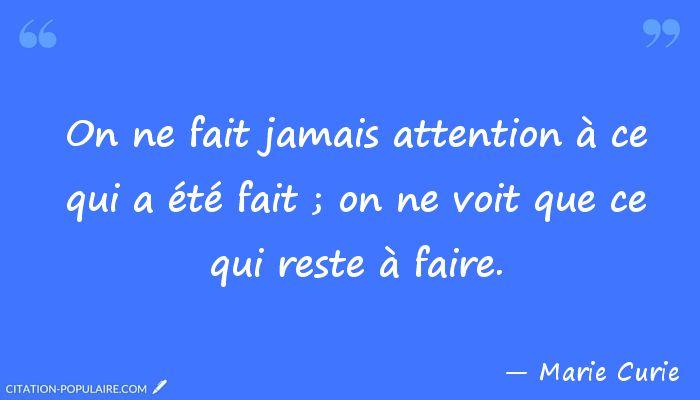 citation Marie Curie