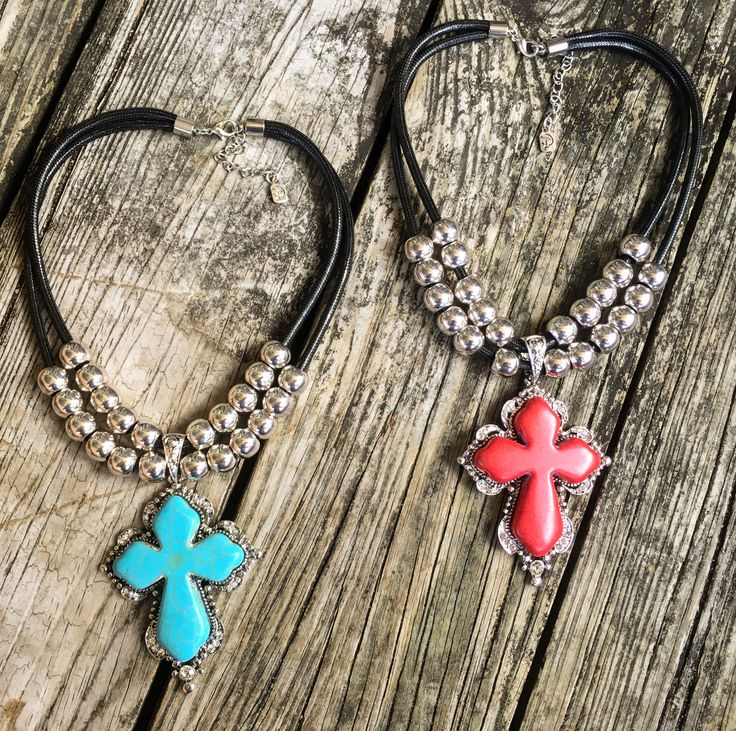 NEW!!! Southern Cross Chokers $19 ~ Turquoise & Red Turquoise Crosses w…