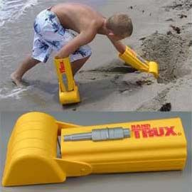 FACT: Every man, woman, and child wants to be part man and part machine. Regardless of your robotic aspirations, you can now make baby step alterations to your hands to make deeper, bigger, and better holes at the beach with these hand shovels. Let's face it - your hands aren't going to evolve into claws…