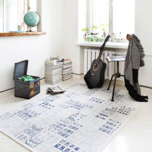 White Downtown: With a sketchy architectural feel, this design is also reversible with the optio...
