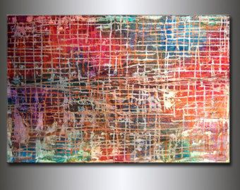 Original Large Abstract Painting Metallic от newwaveartgallery