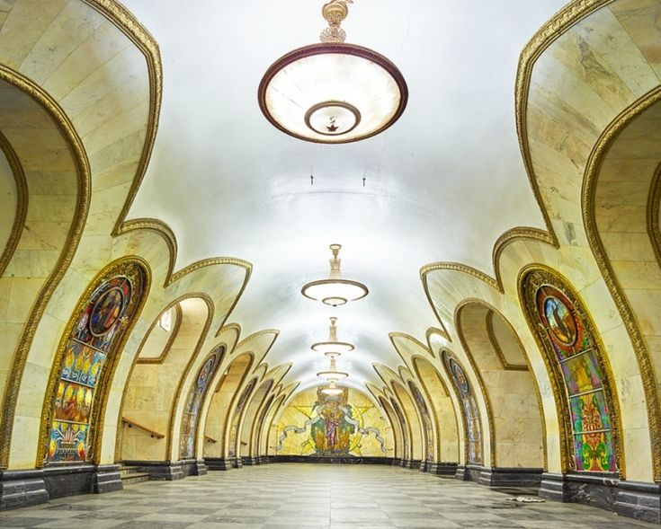 Moscow Underground, Novoslobodskaya station by David Burdeny