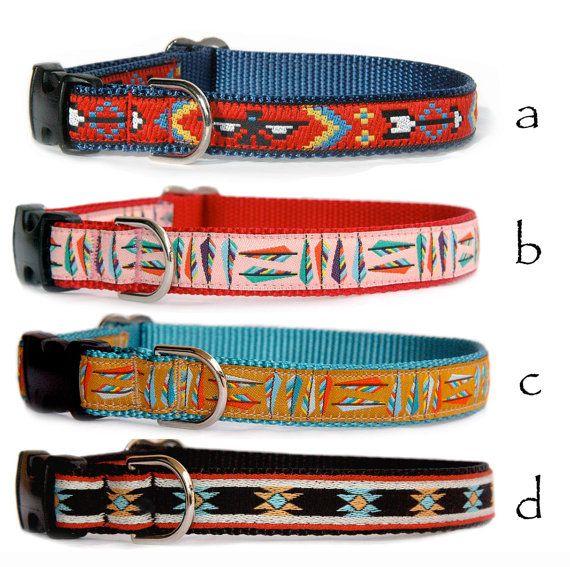 Dog harness & dog leash Southwestern Tribal Navajo by MaritynDog