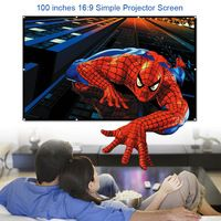 100 inch 16:9 Portable White Projector Screen Fabric Material Folded Projection Screen High-definition Curtain