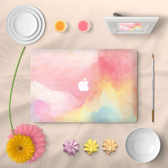 Sticker MacBook Air couverture pleine peau decal aquarelle pour ordinateur portable (choisir version différente)