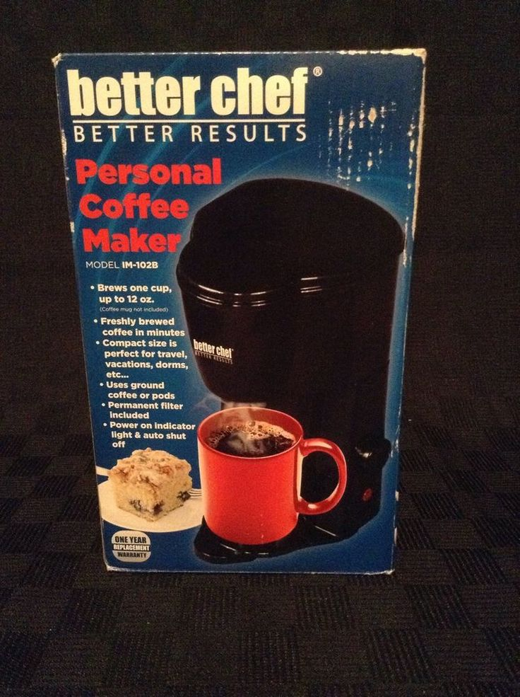 NIB Better Chef Personal 1 Cup Coffee Maker 1M-102B College Office Home #BetterChef