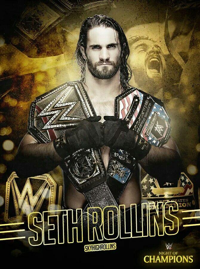 Seth Rollins The US Champion and WWE World Heavyweight ...