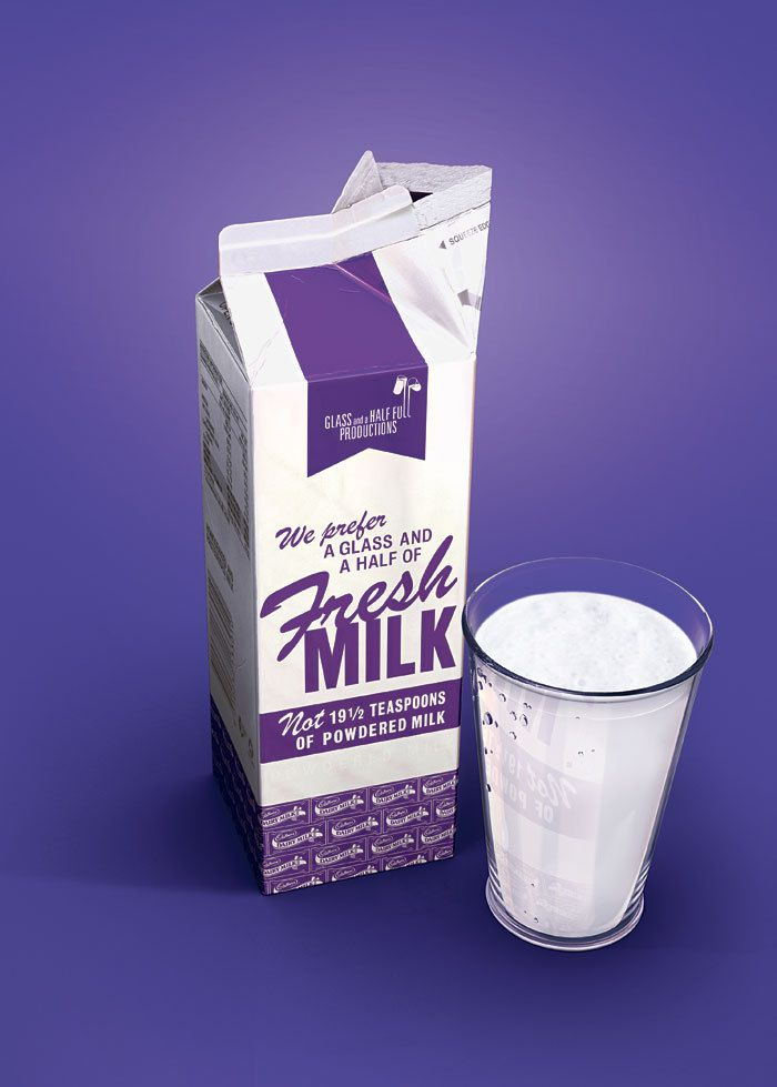 Cadburys Milk Advert by Ferdi Dick, via Behance
