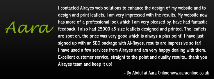 Lovely Message from Aara Online.