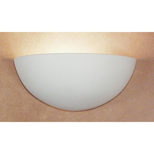 Thera Zinc White Marble Fluorescent Half Moon Wall Sconce