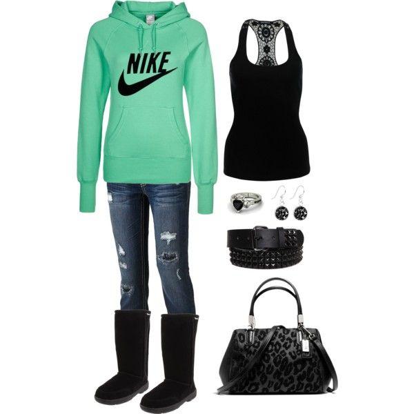 """Comfy & Cute"" LOVE Nike & bearpaw boots!"
