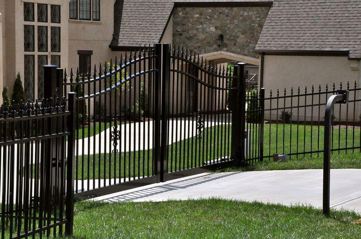 Aluminum Driveway Gates w/ Operators - Champion Fence Builders