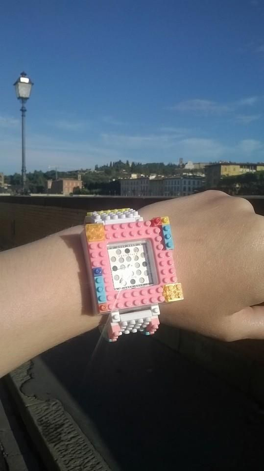 Greetings from Florence! Style your Nanoblock watch colored building blocks!