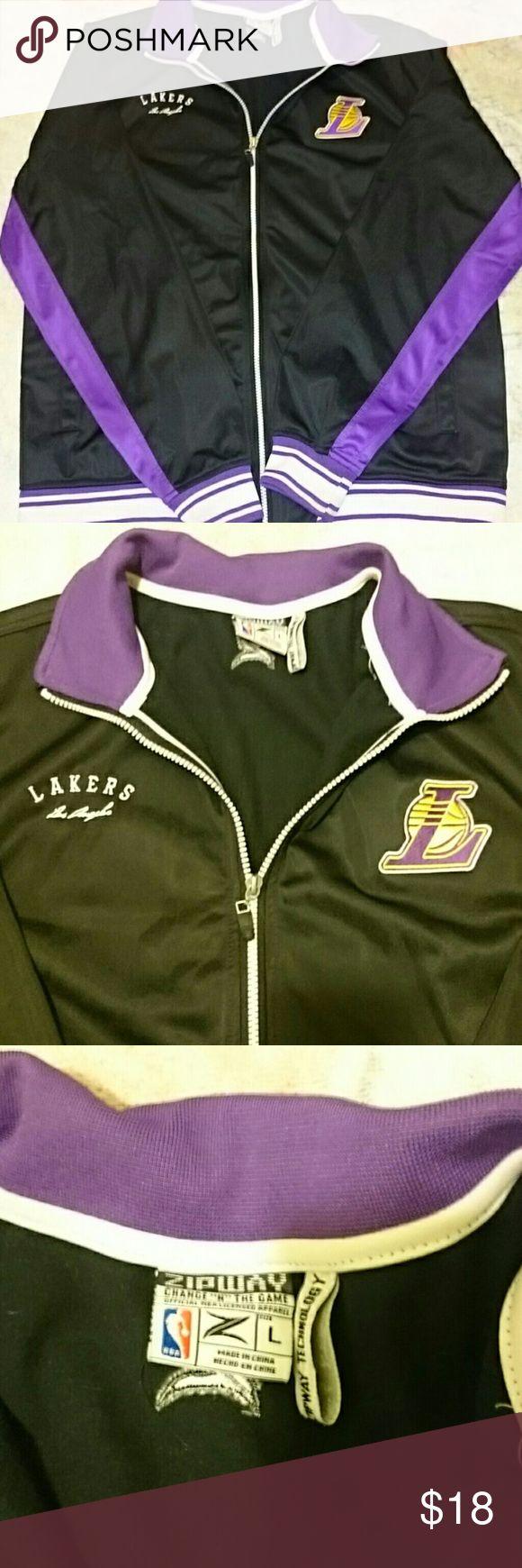 Lakers black jacket Lakers black jacket. Zipper and no hood zipway Jackets & Coats