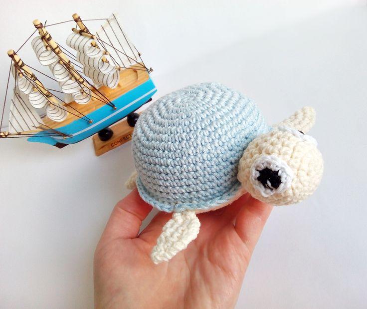 szydełkowy żółw, crochet turtle