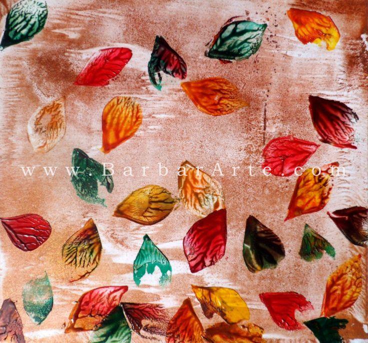 Otoñal. Pintura encáustica sobre papel. 2013./ Autumn. Encuastic painting on paper. 2013