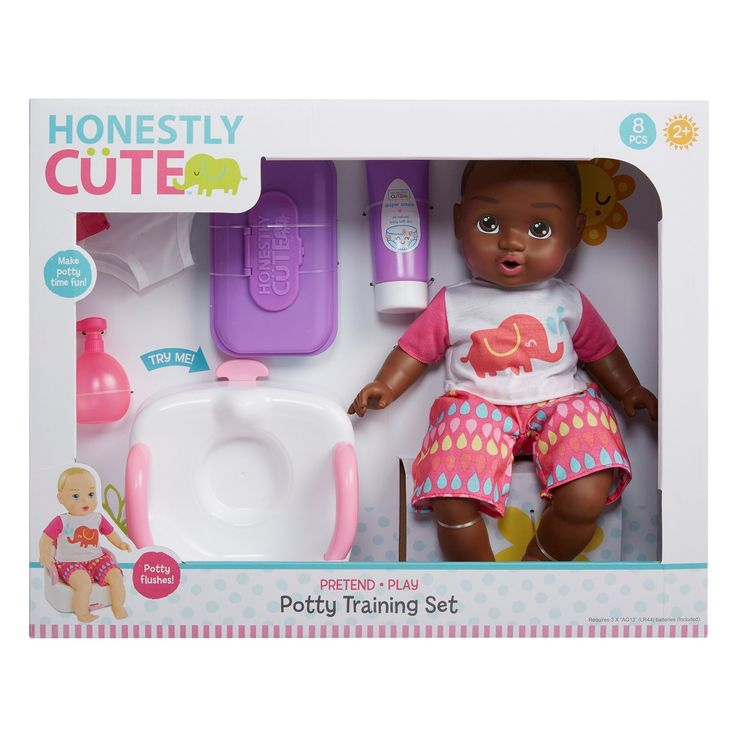 Honestly Cute Baby Potty Training Set African American