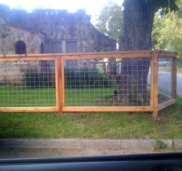 Wood wire fencing