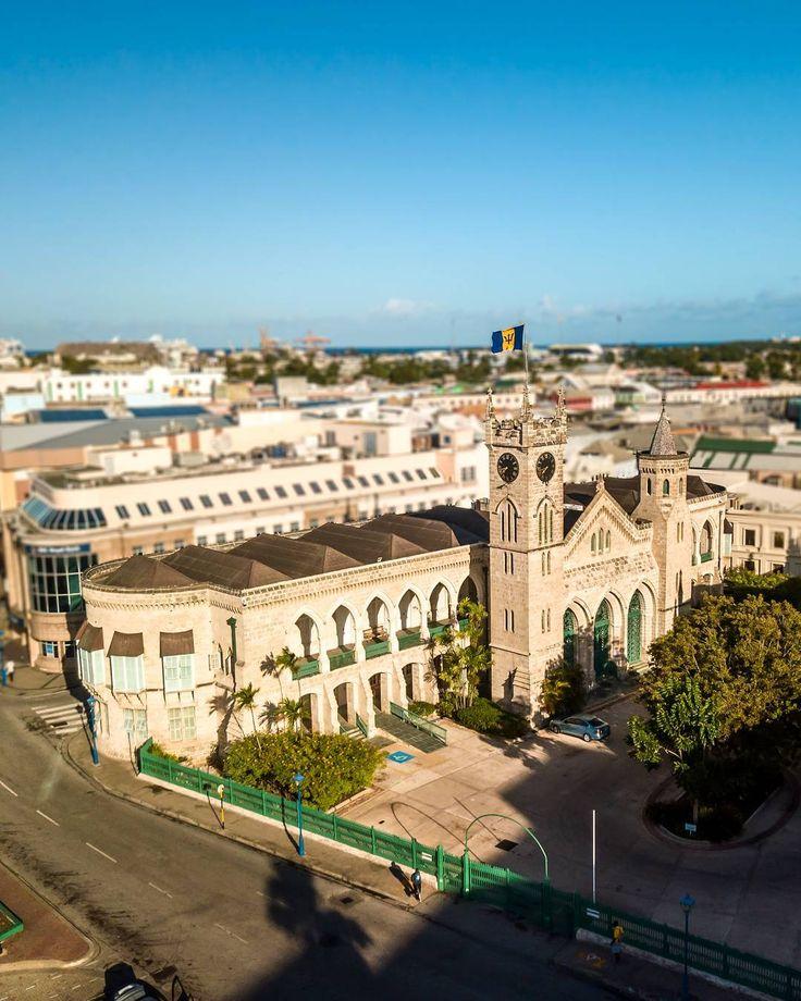 Historic Parliament Buildings in Bridgetown, Barbados.