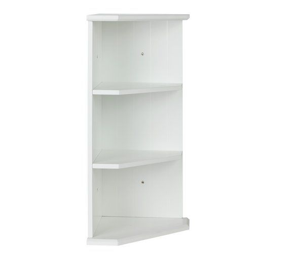 Photo Gallery On Website Buy Collection Tongue and Groove Bathroom Corner Shelf White at Argos co uk