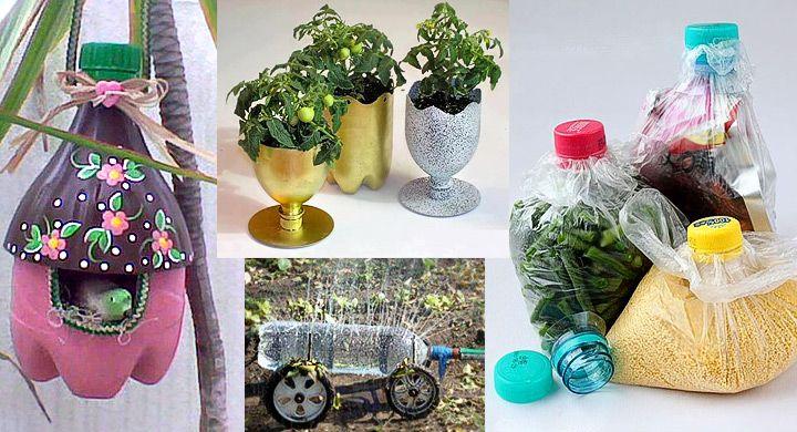 Por si quieres poner un toque de originalidad y a la vez reciclar los envases de plástico aqui les dejo una selección de estupendas ide...