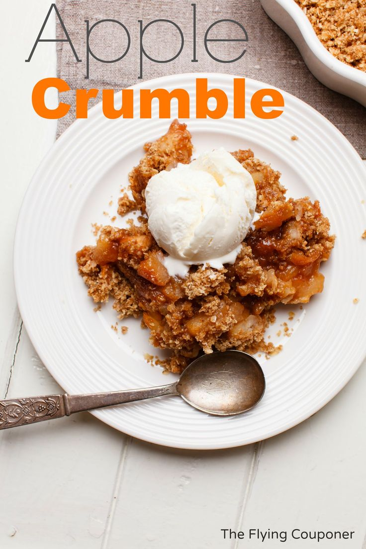 Apple Crumble Recipe. Easy Fall recipe ideas. The Flying Couponer   Family. Travel. Saving Money.