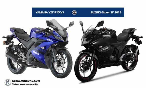 Compare Yamaha Yzf R15 V3 Vs Suzuki Gixxer Sf 2019 Vs Price