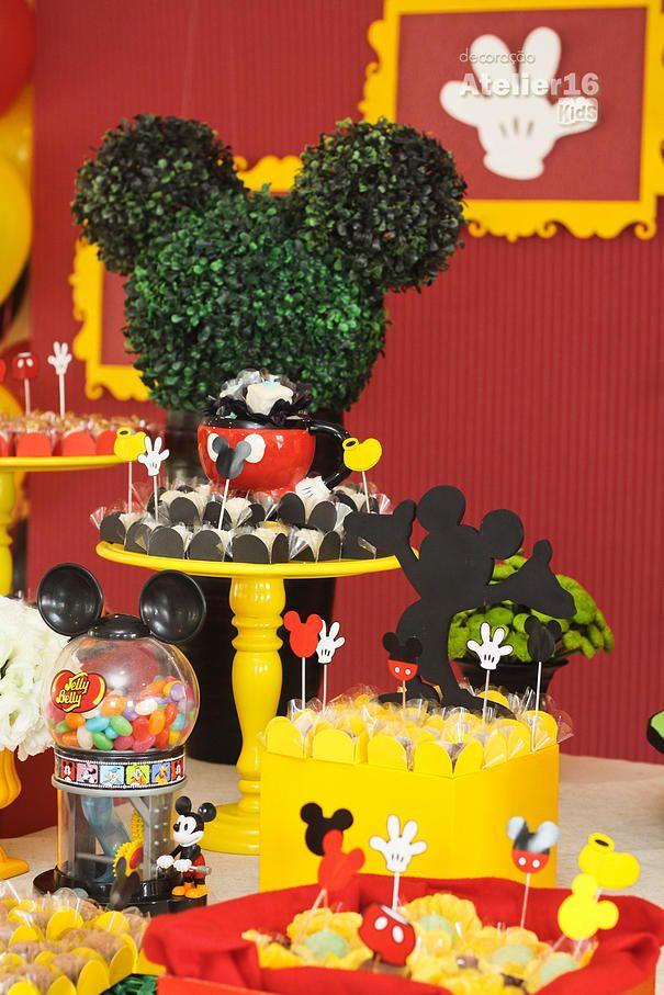25 melhores ideias sobre festas   tema do mickey mouse no pinterest 1 anivers rio do