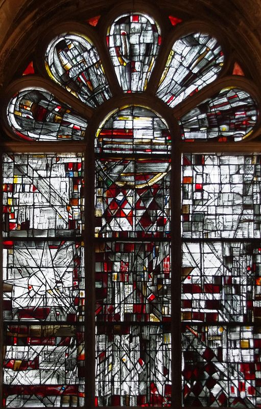 Maria Elena Vieira da Silva. This represents to me a bombed out cathedral after the war.