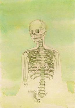 "Saatchi Art Artist Isadora Reimão; Painting, ""Skeleton"" #art"