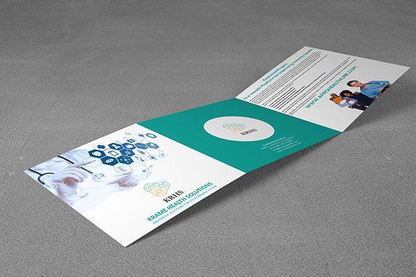 Square Trifold Brochure Design for KRAME HEALTH SOLUTIONS