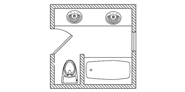 17 best ideas about small bathroom floor plans on for Bathroom blueprints for 8x10 space